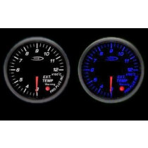 PRO RACING GAUGE 52mm - Kipufogógáz hőmérséklet Kék&FEHÉR